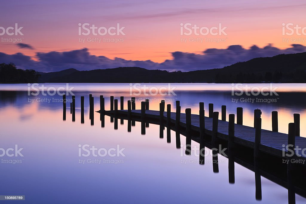 Coniston Jetty stock photo
