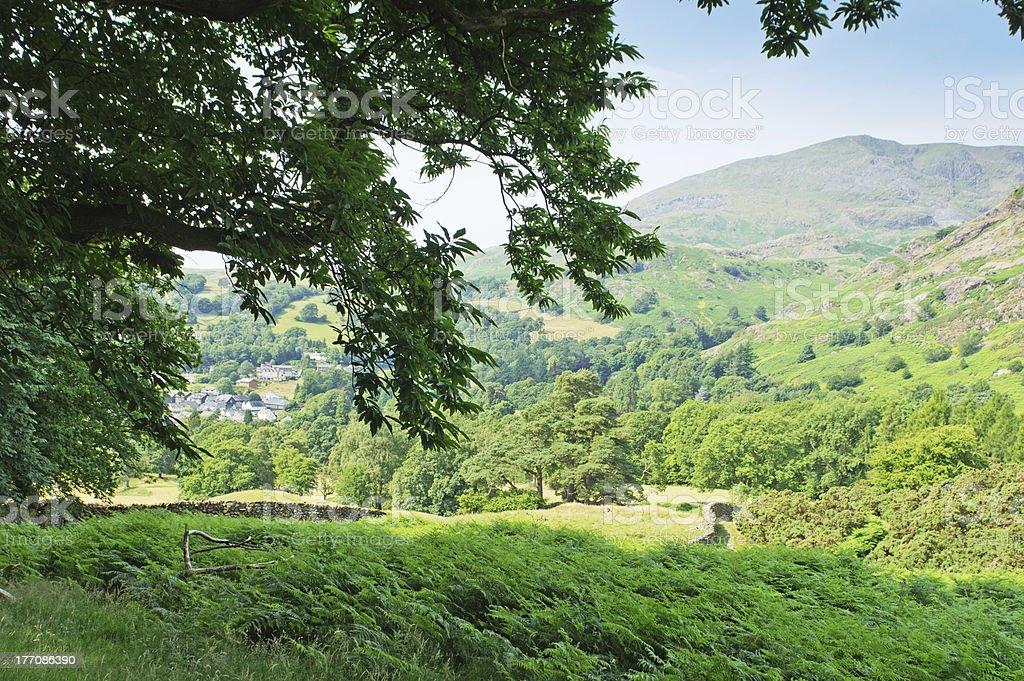 Coniston village royalty-free stock photo