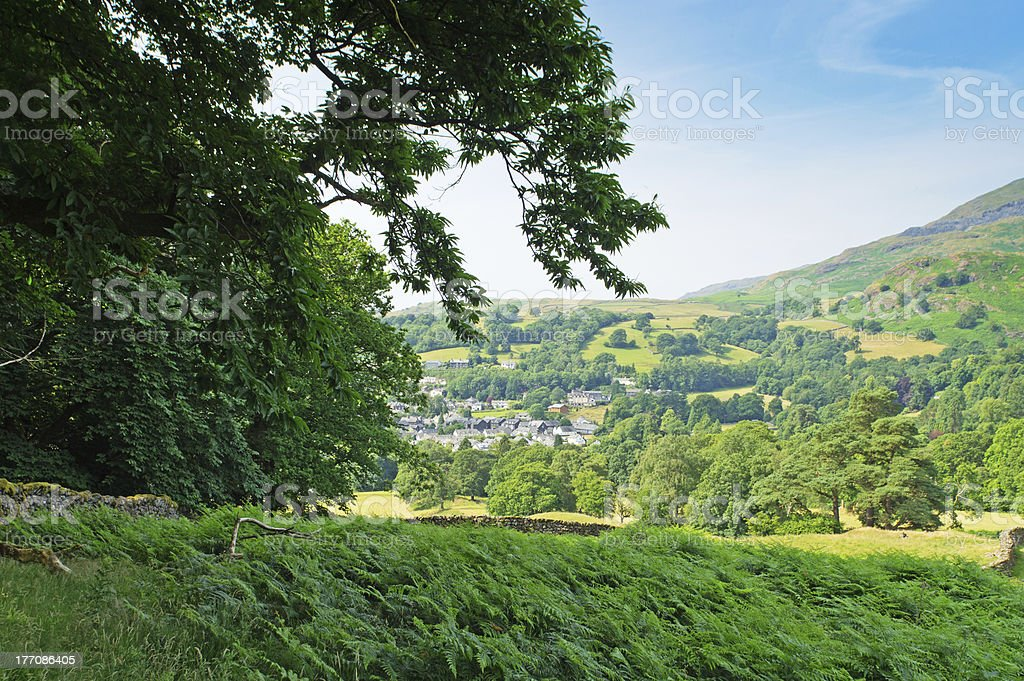 Coniston village royalty-free stock photo