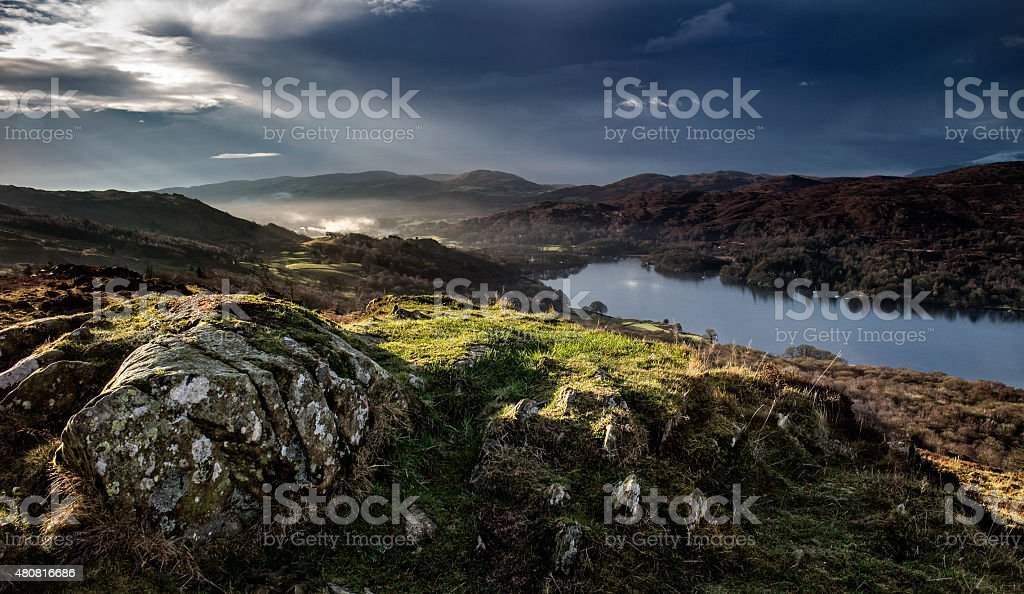 Coniston Water in the English Lake District stock photo