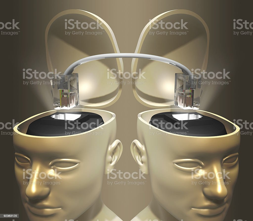 Connect Mind royalty-free stock photo