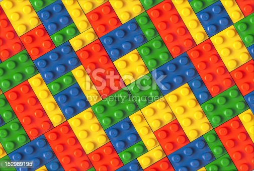 istock Connectable blocks in multiple colors 152989195