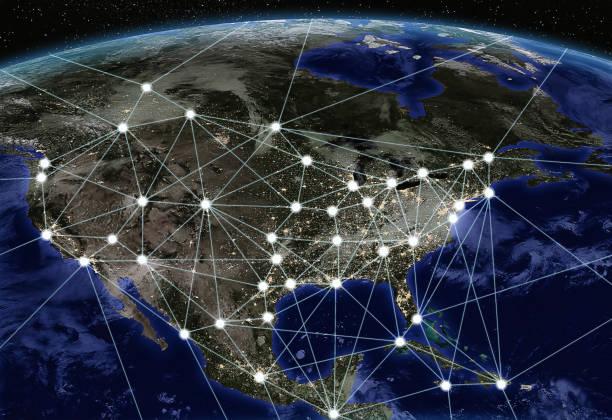 연결 도시-5g 기술 - 북아메리카 뉴스 사진 이미지