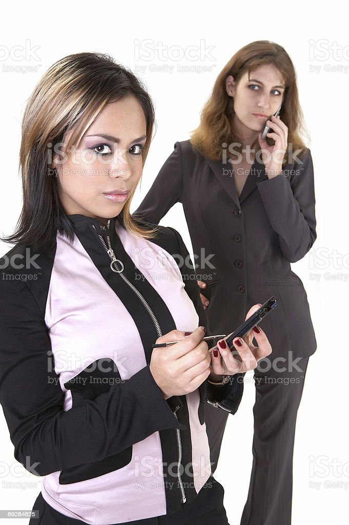 Connected coworkers royalty-free stock photo