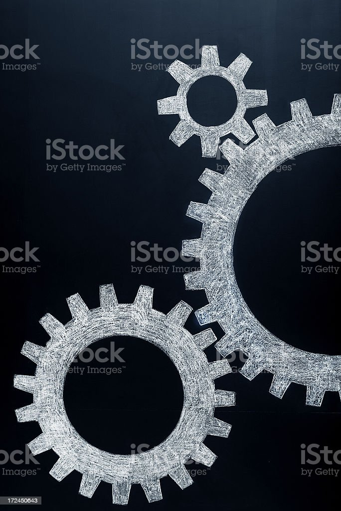 Connected gears royalty-free stock photo