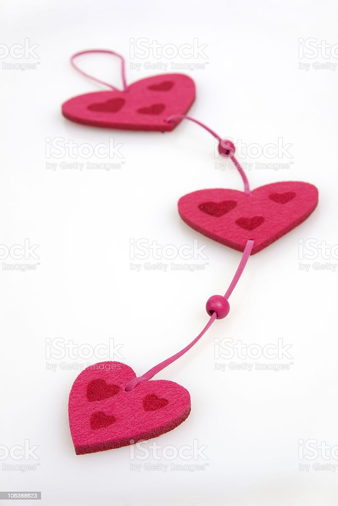 Connected Hearts royalty-free stock photo