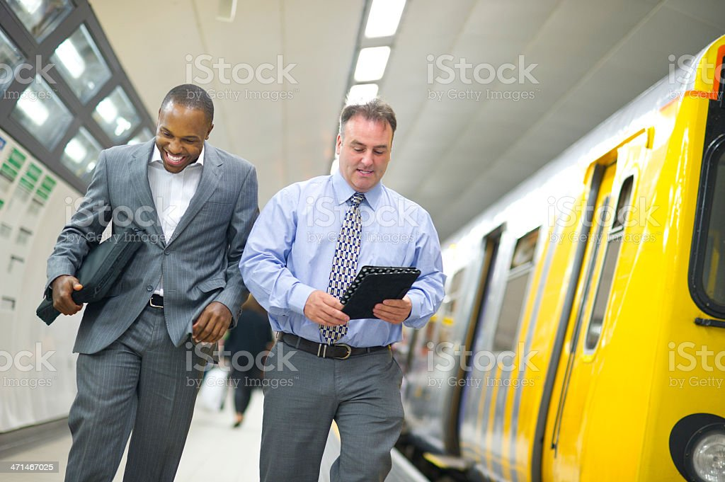 connected in the subway royalty-free stock photo