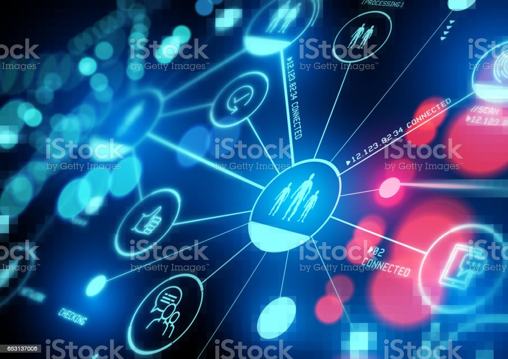 Connected Interests stock photo