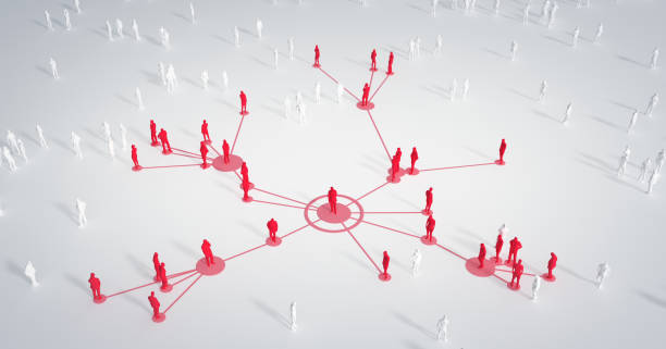 Connected People - Social Media, Networking - Coronavirus, Epidemiology, Infectious Disease stock photo