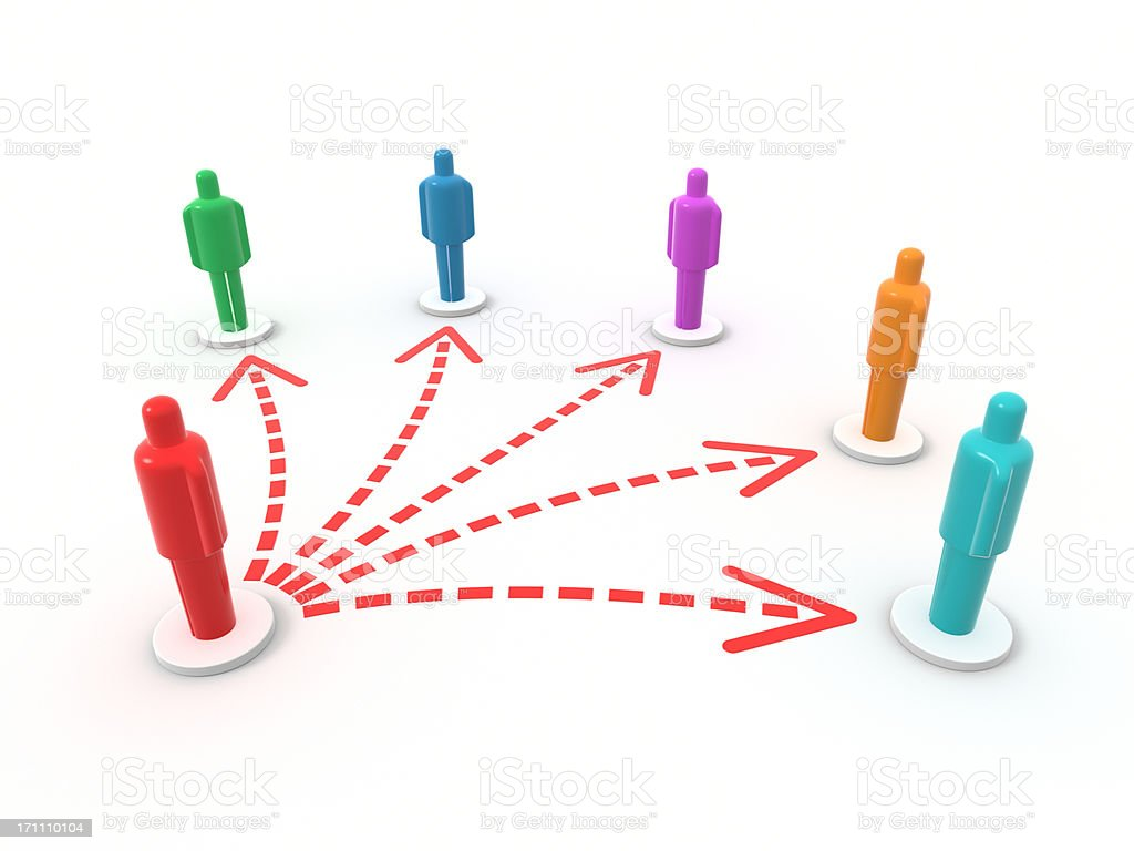 Connected Person XL+ royalty-free stock photo