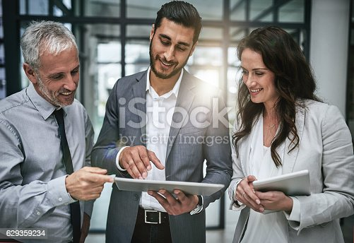 603310486istockphoto Connected professionals are productive professionals 629359234