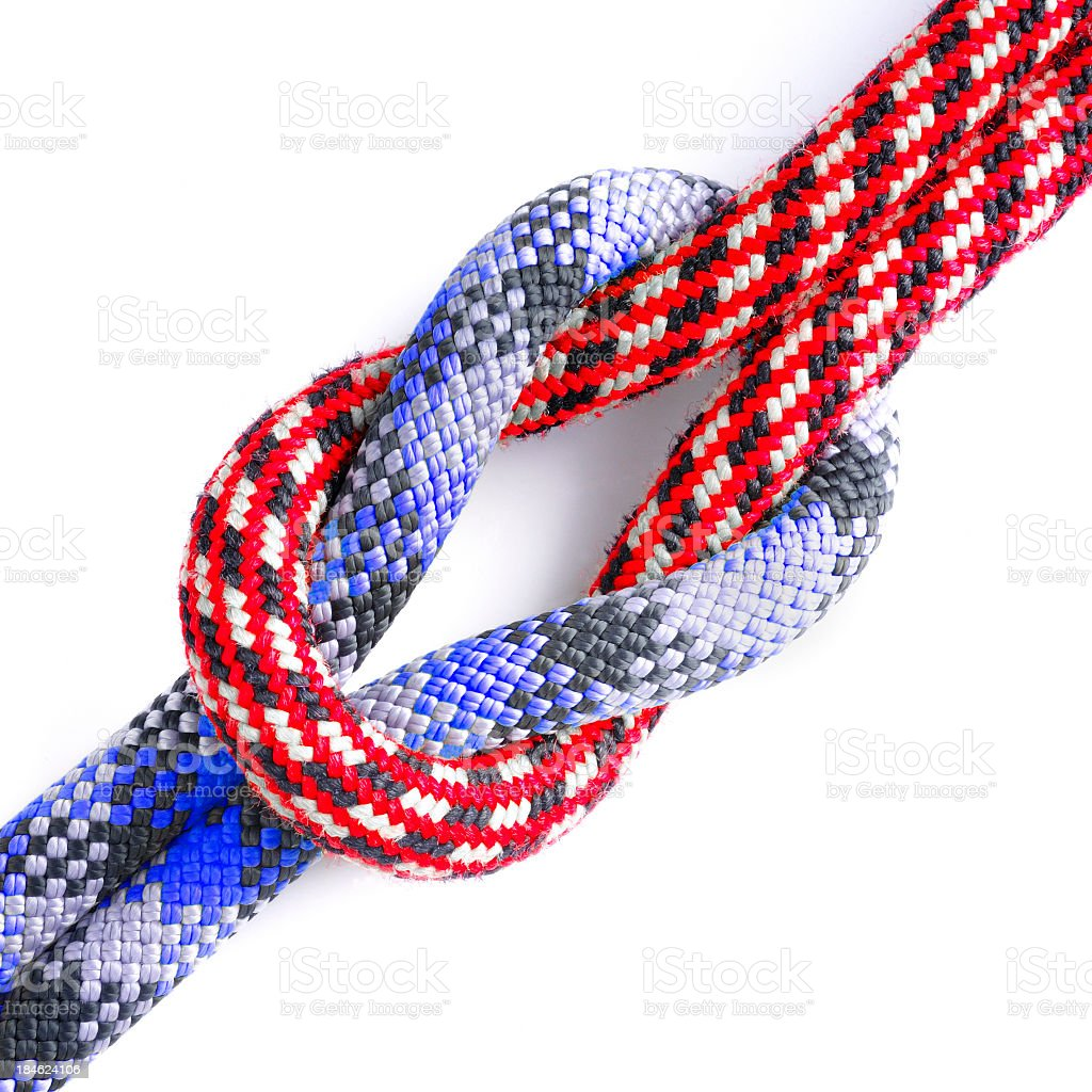 Connected ropes stock photo
