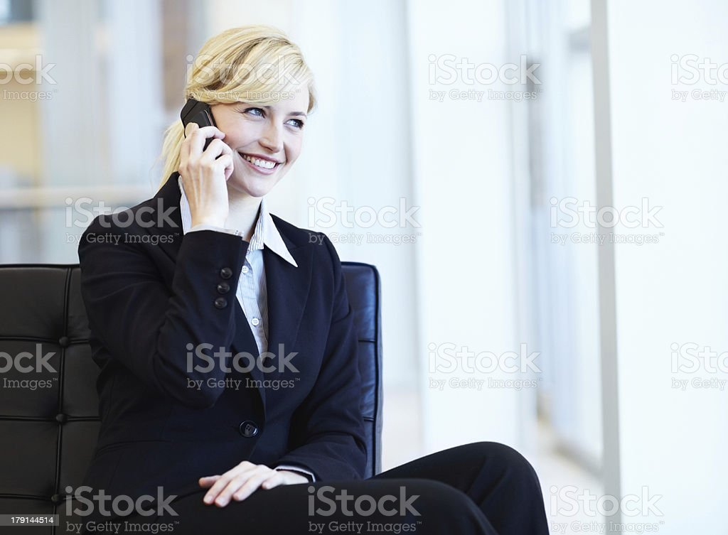 Connected to a client royalty-free stock photo