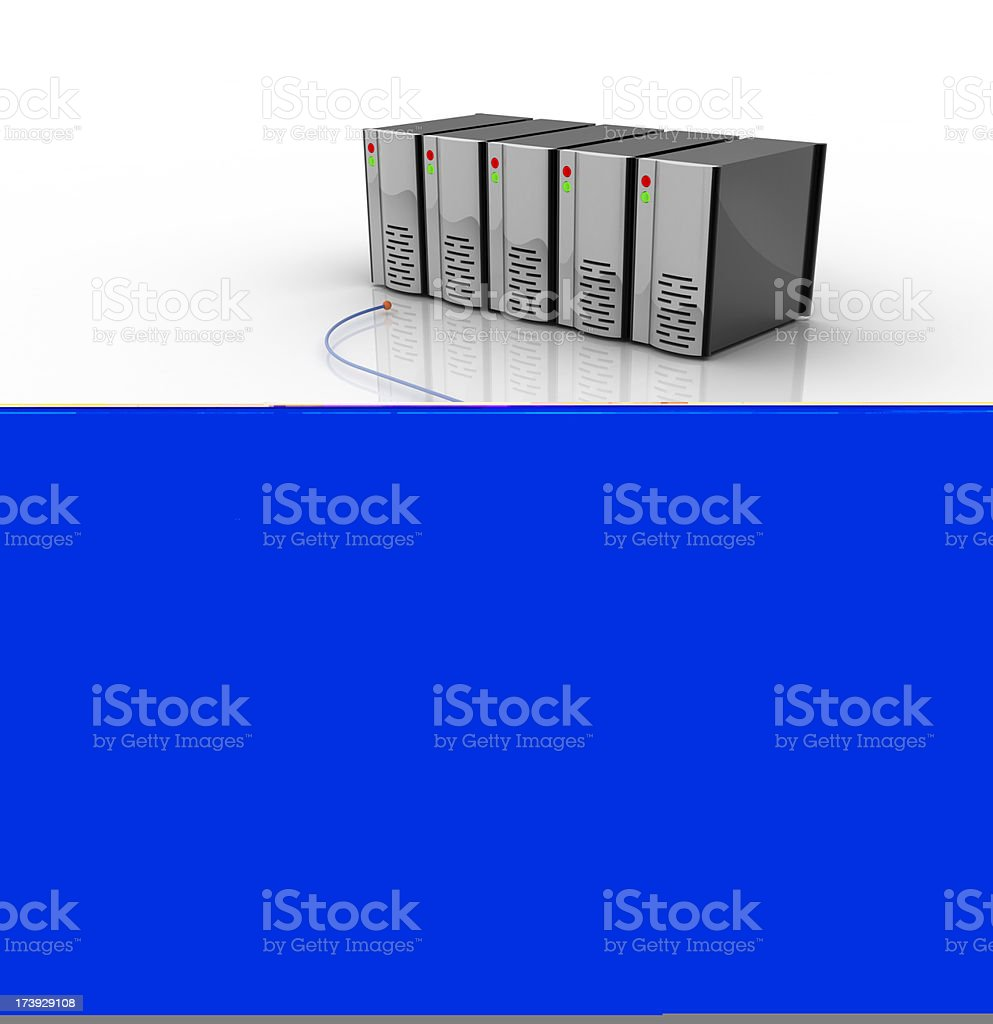 connected to servers royalty-free stock photo