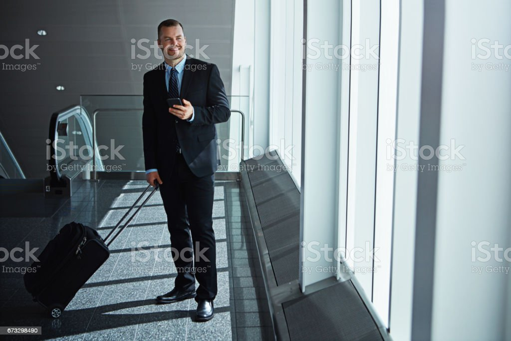Connected to the office wherever he goes royalty-free stock photo