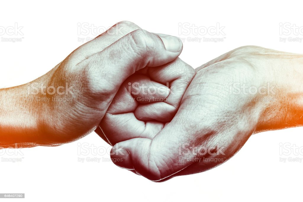 Connected  together and forever. stock photo