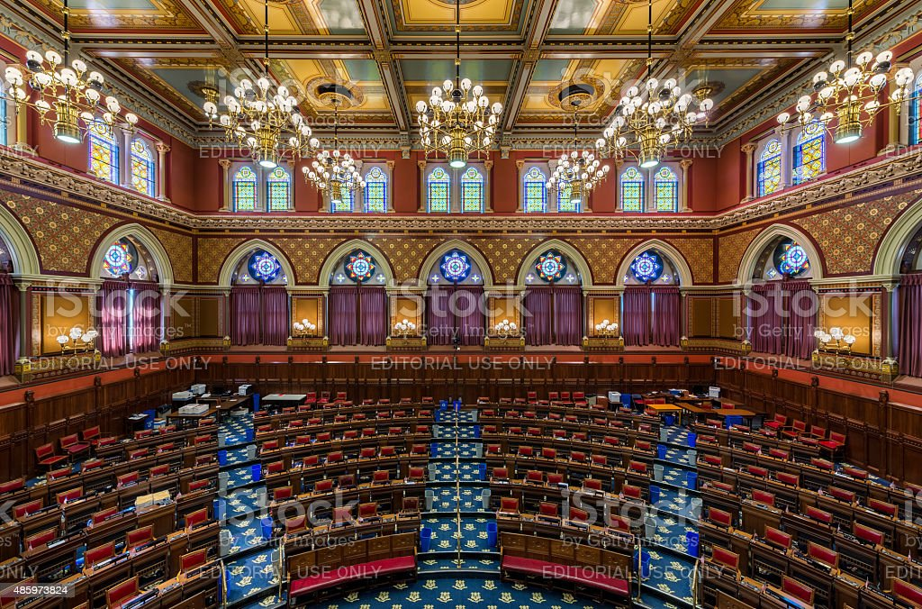 Connecticut House Chamber stock photo