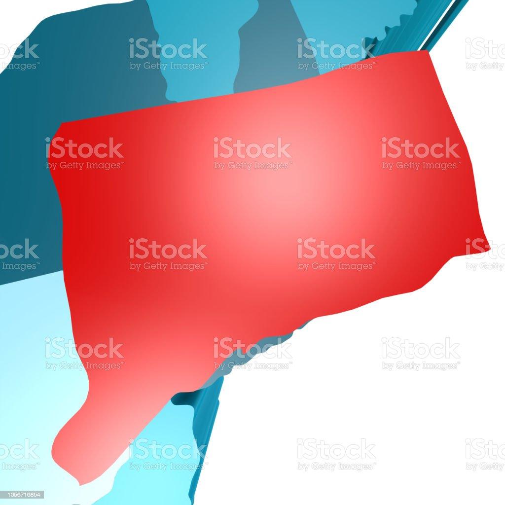 Mapa De Connecticut Azul Mapa De Estados Unidos Foto de stock y ...
