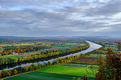 An image of the Connecticut River taken from the top of Sugarloaf Mountain in Sunderland, MA