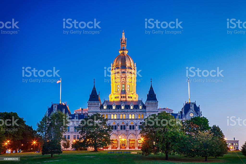 Connecticut State Capitol Building In Hartford stock photo