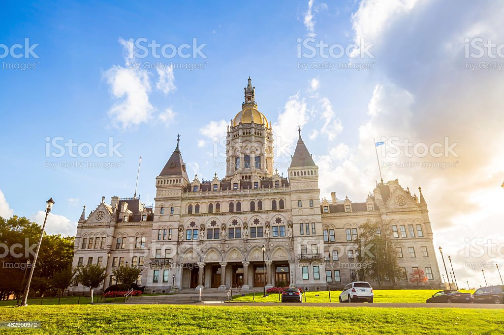 Connecticut State Capitol in Hartford, Connecticut stock photo