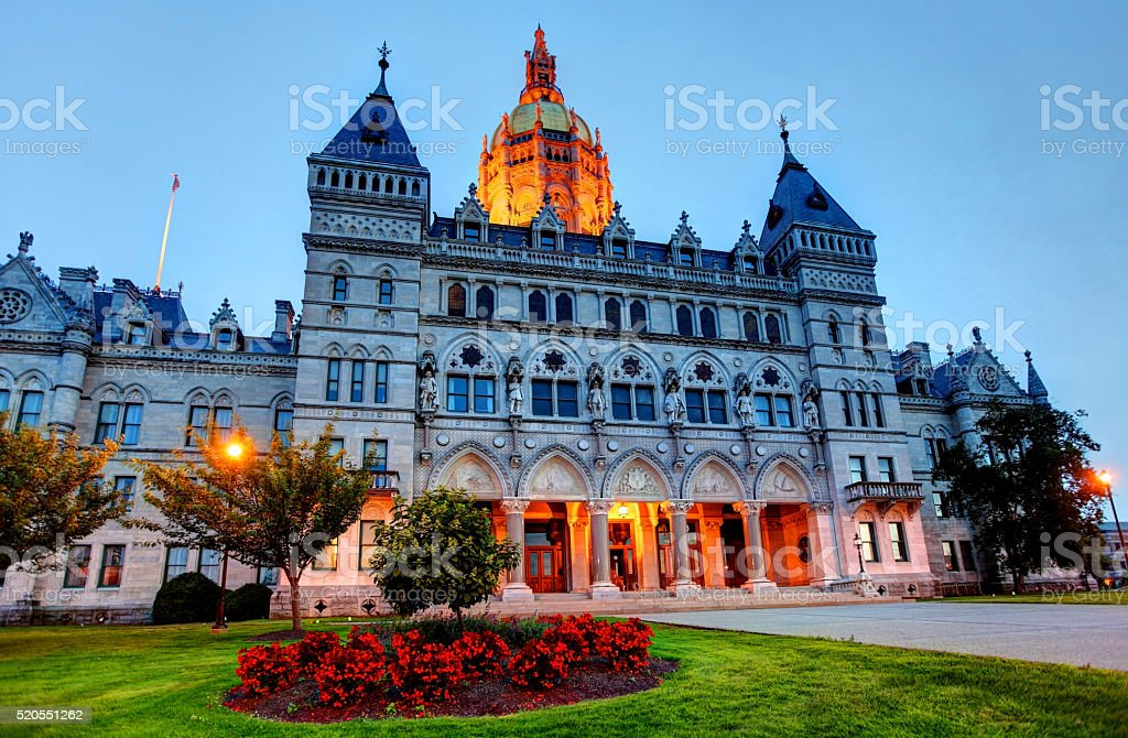 Connecticut state capitol in Hartford stock photo