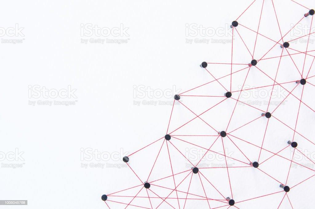 Verbinding Maken Met Netwerken Concept Netwerk Verbonden Met