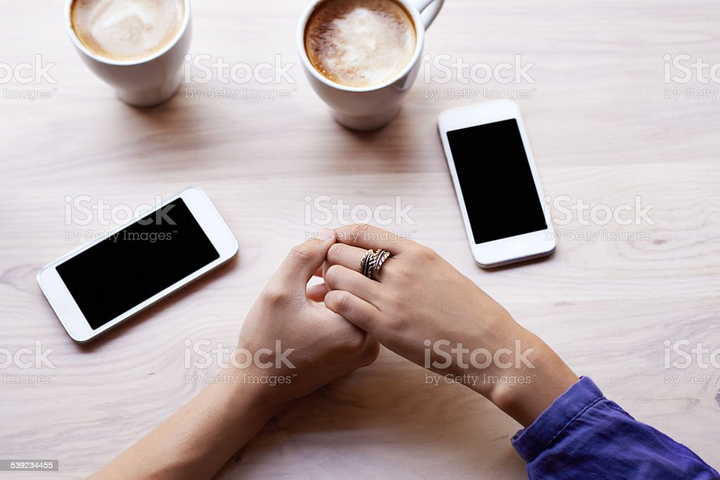 Connecting over coffee royalty-free stock photo