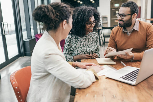 Connecting the business plan to their personal financial plan stock photo