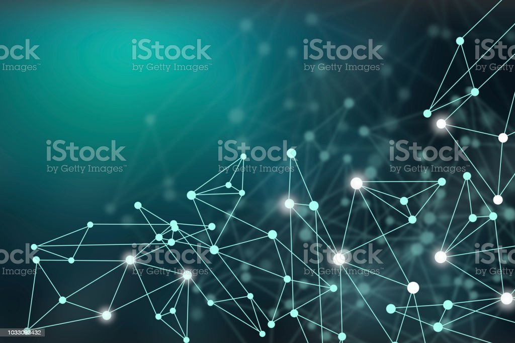 Connecting the dots stock photo