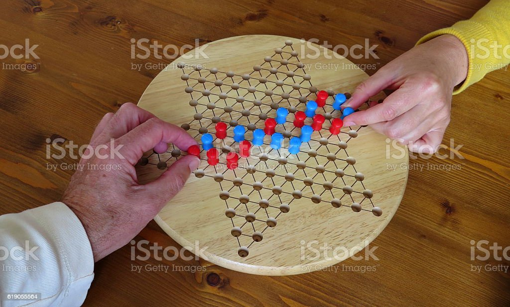 Connecting through playing a game stock photo