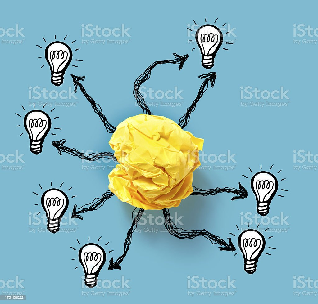 Connecting to a Bright Idea stock photo