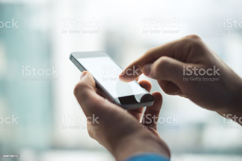 Connecting to Wi Fi stock photo
