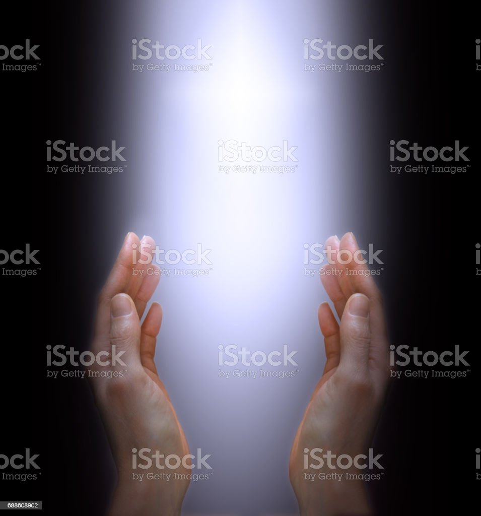 Connecting with a higher power stock photo
