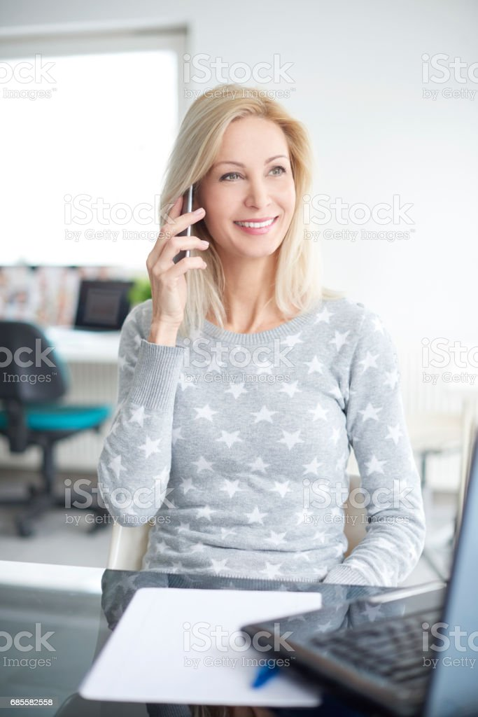 Connecting with customers 免版稅 stock photo