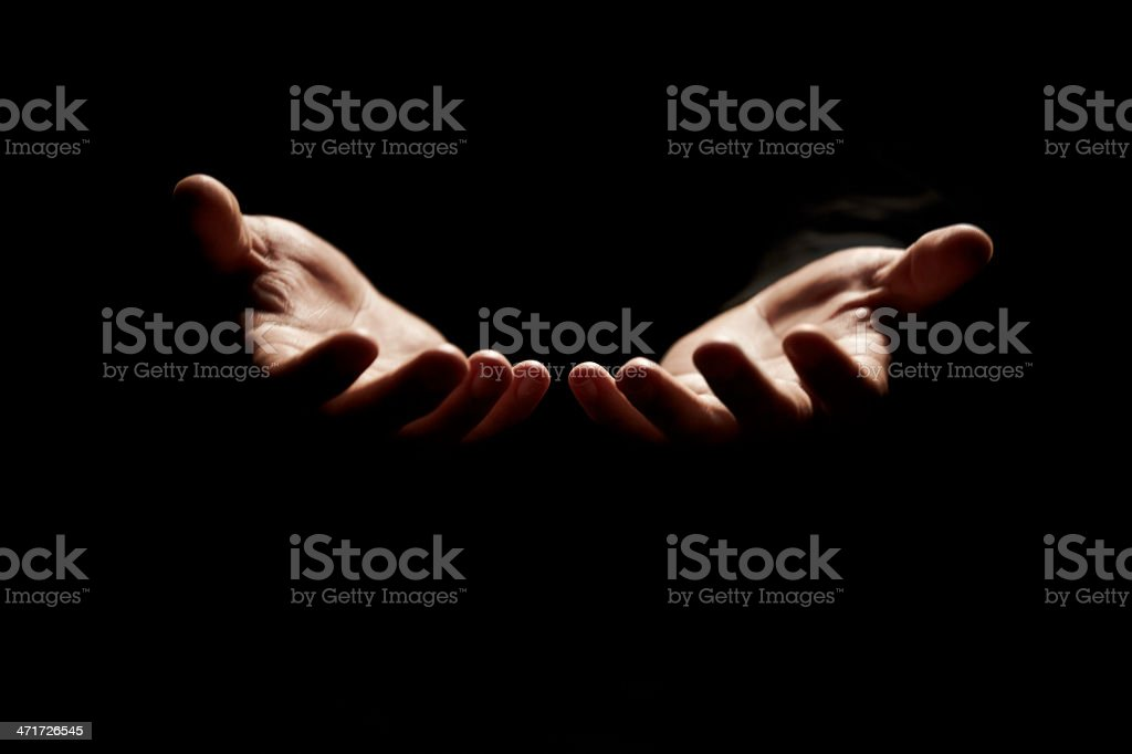 Connecting with God stock photo