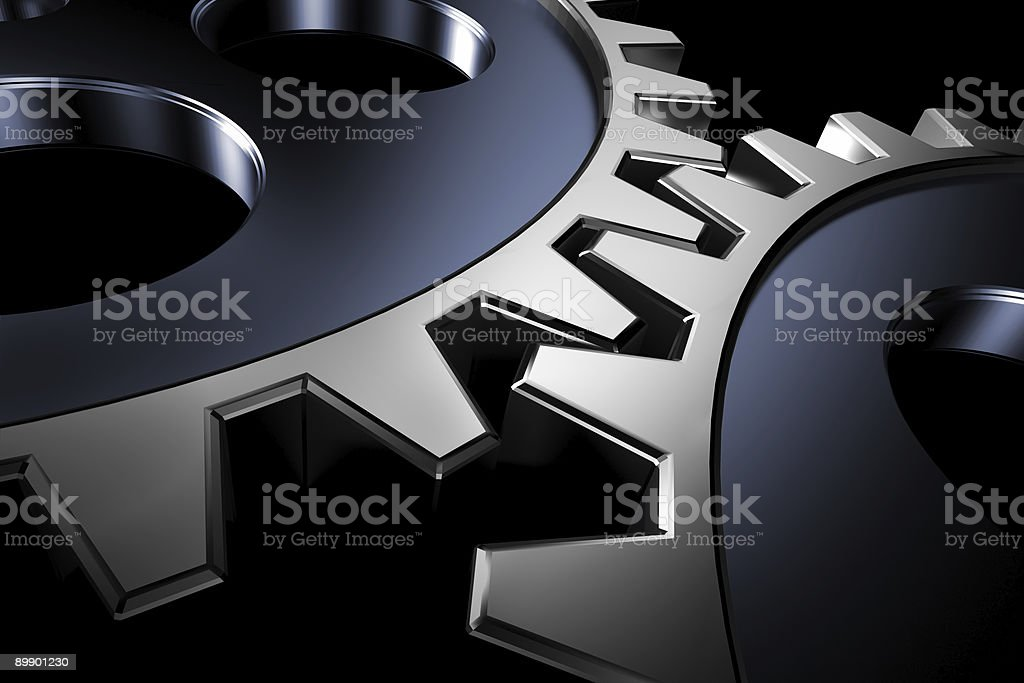 Connection concept. 3d gears. royalty-free stock photo