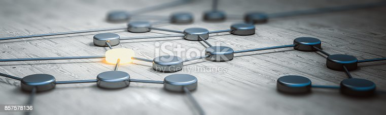 istock Connection concept panorama 3d rendering 857578136