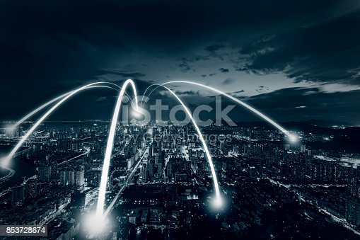 852015986 istock photo Connection in smart city 853728674