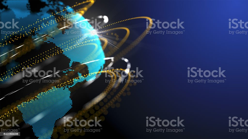 Connection network technology design stock photo