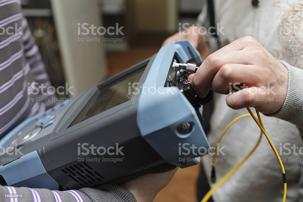 Connection of analyser stock photo