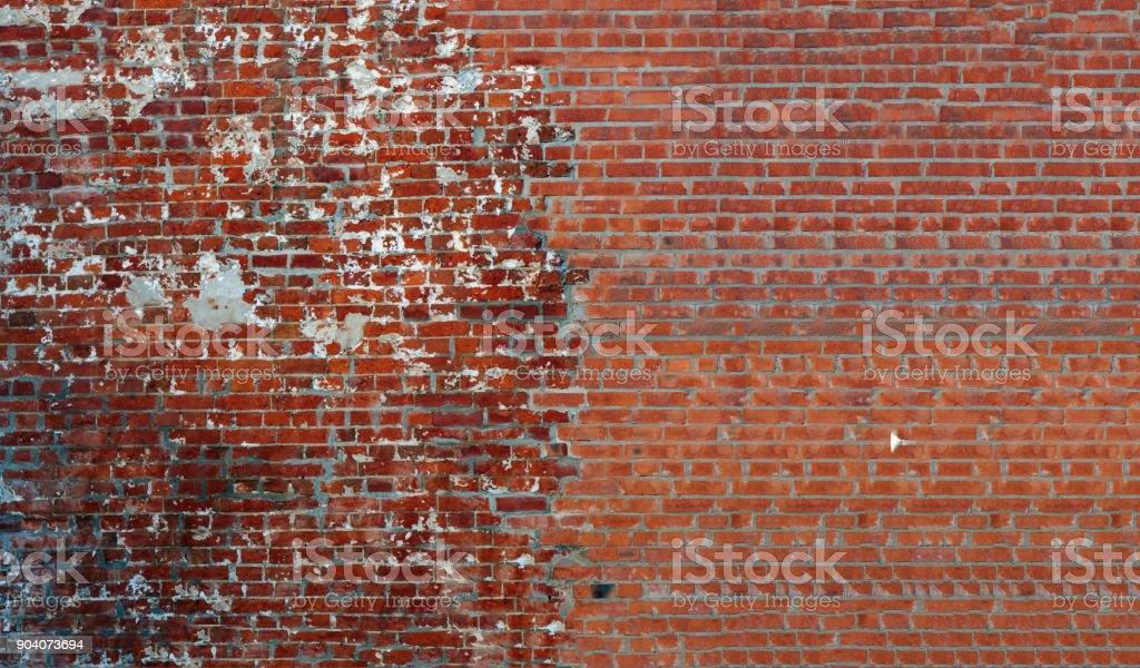 Verbindung von alten und neuen Mauerwerk – Foto