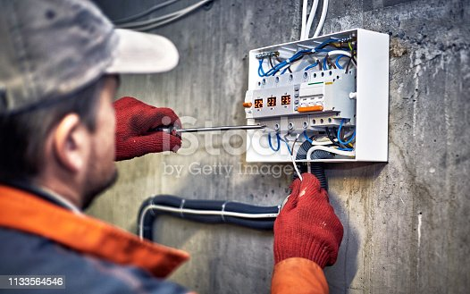 Maintenance of the electrical system. Work tests of the electrical circuit.