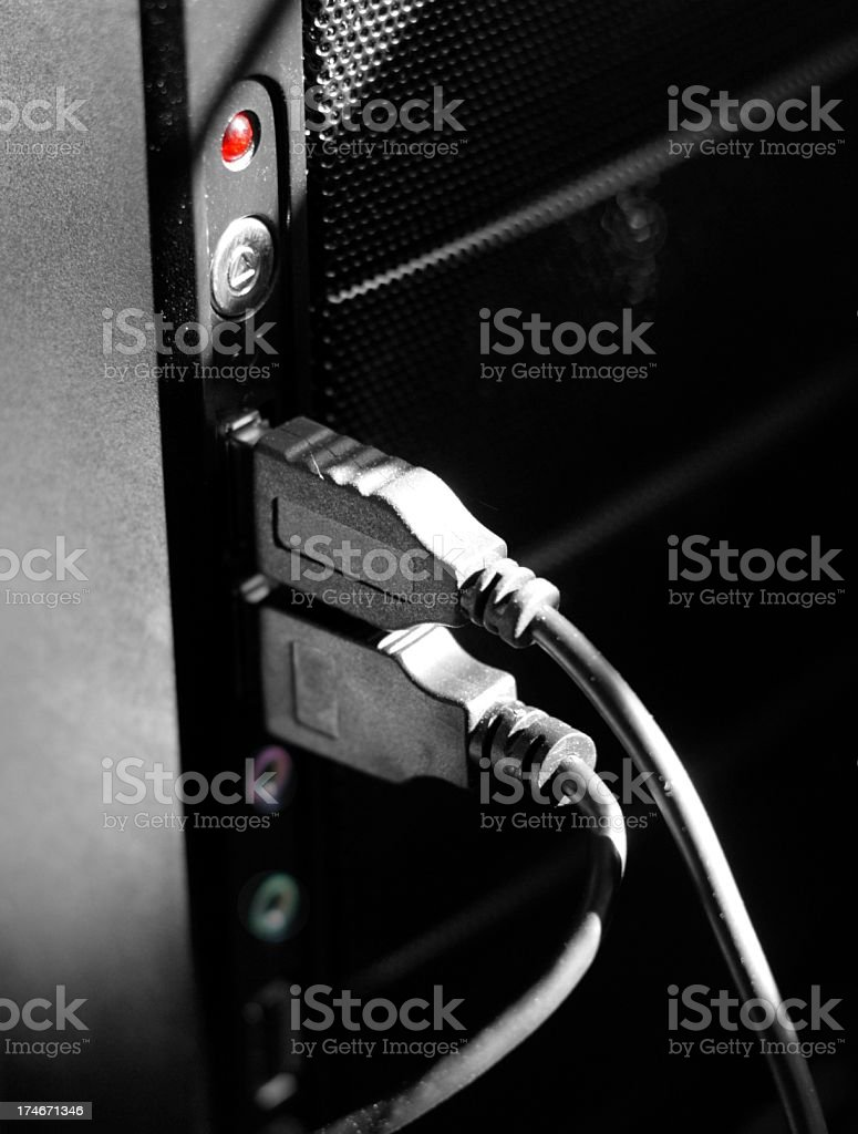 USB connection stock photo