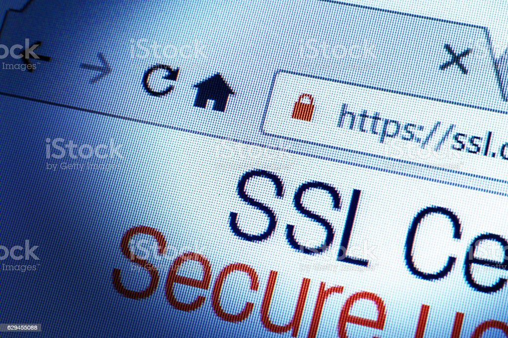 SSL Connection stock photo