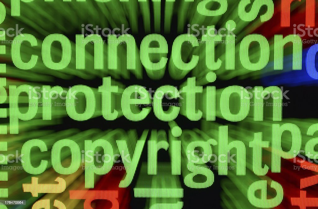 Connection protection copyright royalty-free stock photo