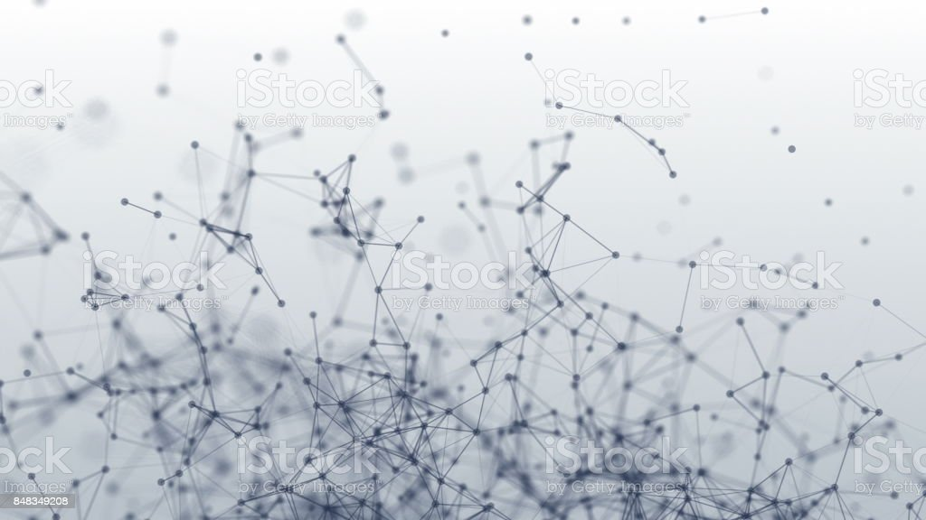 Connection structure. Dots and lines. 3d animation stock photo