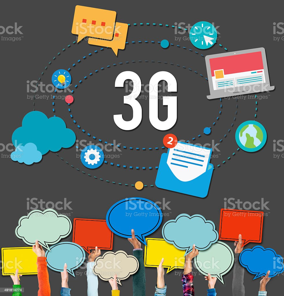 3G Connection Wireless Telecommunications Mobility Concept stock photo