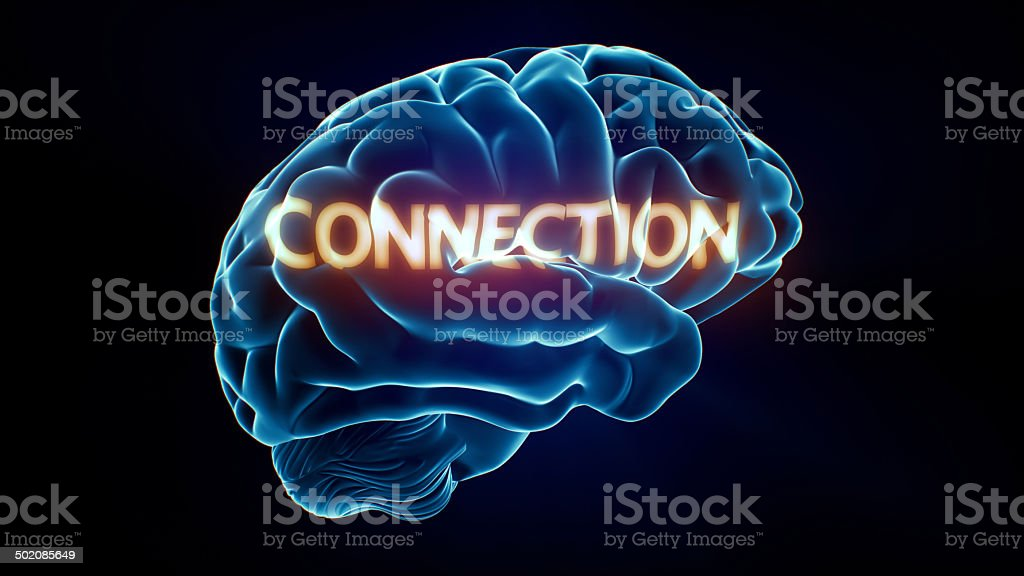 Connection Xray Brain royalty-free stock photo