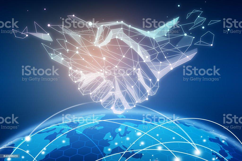 Connectivity concept stock photo